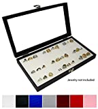 Best Novel Box Birthday Gift For Women - Novel Box® Glass Top Black Jewelry Display Case Review