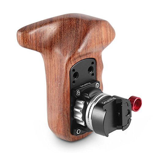 SMALLRIG Left Side Handle Kit with Wooden Rosette Grip and NATO Rail Clamp – 2118