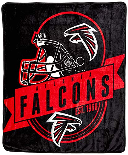 The Northwest Company Officially Licensed NFL Atlanta Falcons Grand Stand Plush Raschel Throw Blanket, 50