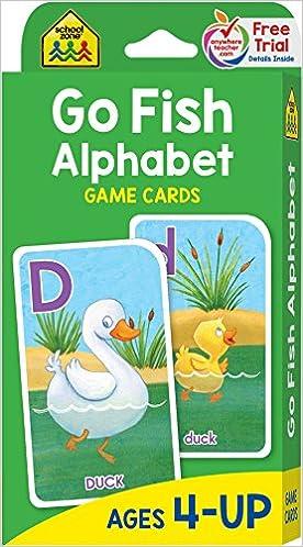 Go Fish Alphabet Game Cards