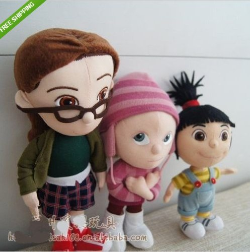 DESPICABLE ME Agnes Edith Margo PLUSH STUFFED DOLL SOFT TOYS,Set of 3 NEW]()