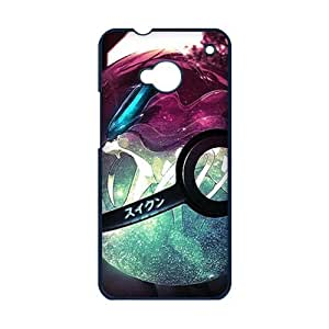 Pokemon Series Collection Pokemon Ball for HTC One M7 Durable Plastic Case-Creative New Life