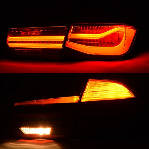 Error Free 2012-2017 BMW 3 Series F30 F80 LCI M-Performance Black Tail Lights