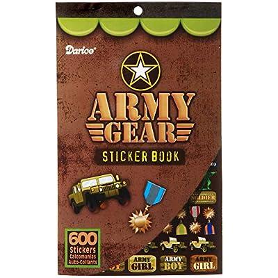 DARICE 106-3237 600 Piece Book Army Gear Sticker, Multicolor: Arts, Crafts & Sewing