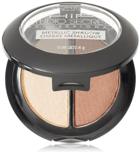 L'Oreal Paris HiP Studio Secrets Professional Metallic Eye Shadow Duos, Energized, 0.08 Ounces