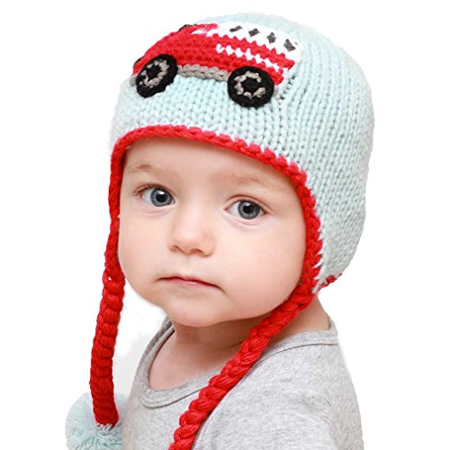 Hugglugs Baby and Toddler Boys Firetruck Beanie Hat Medium (Infant Truck Fire)