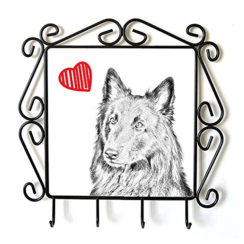 Belgian Sheepdog, Clothes Hanger with an Image of a Dog and Heart