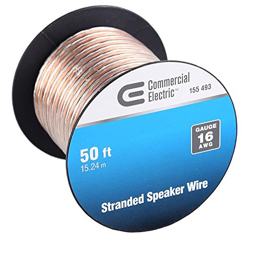 (4-Pack) Commercial Electric 50 ft. 16-Gauge Stranded Speaker Wire Y280730