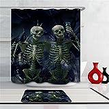 Creative Sugar Skull Design Decorative Shower Curtain Series,72 X 72 inch,Fabric Polyester Bathroom Shower Curtain with 12 Steel Hooks