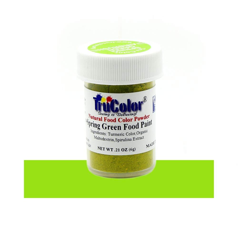 TruColor Spring Green Airbrush Natural Food-Coloring Powder Paint, 6 Grams