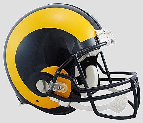 Helmet 1999 Football - Los Angeles Rams 1981 to 1999 Football Helmet - Licensed NFL Memorabilia - Los Angeles Rams Collectibles