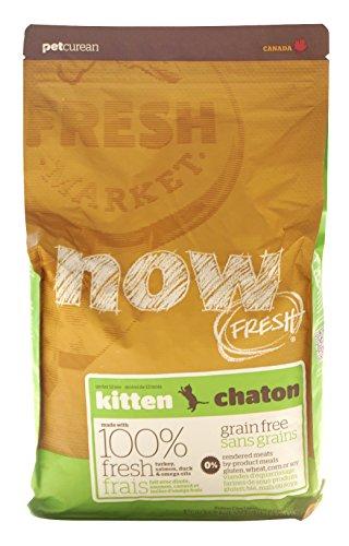 Now! 815260003742 Fresh Grain Free Turkey/Duck Kitten Food Bag, 4-Pound (Best Food For British Shorthair)