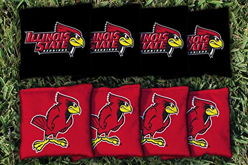 Victory Tailgate NCAA Collegiate Regulation Cornhole Game Bag Set (8 Bags Included, Corn-Filled) - Illinois State Redbirds ()