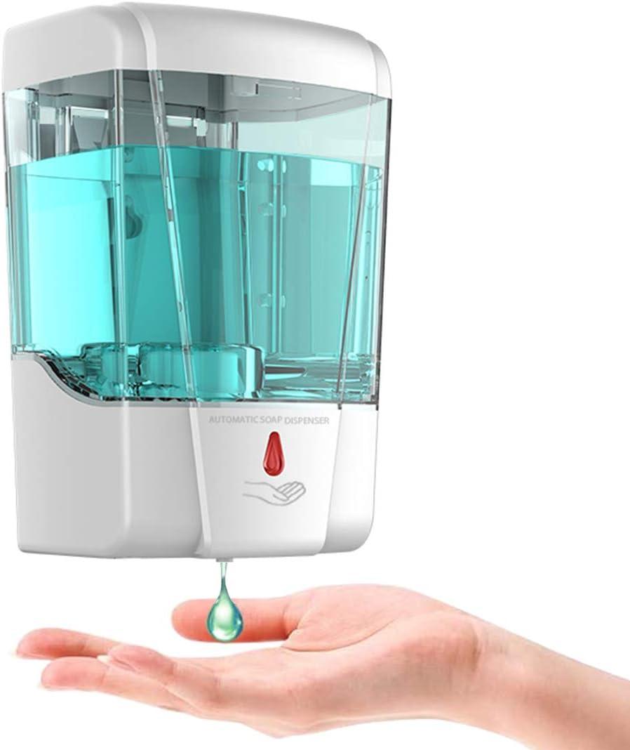 Amazon Com Gukok Automatic Hand Sanitizer Dispenser Wall Mounted Touchless Soap Dispenser 700ml Gel Liquid Touch Free Infrared Motion Sensor Hand Gel Dispensador For Bathroom Hotel School Kitchen White Home Kitchen