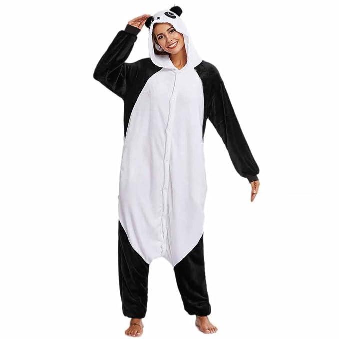 3ea8996a1 Xiahbong Unisex Cálido Pijamas para Adultos Cosplay Animales de Vestuario  Ropa de Dormir Halloween y Navidad