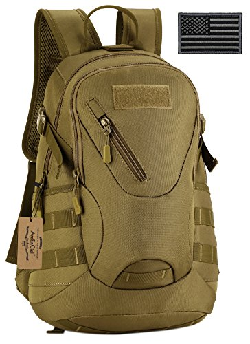 ArcEnCiel Men Tactical Bags Men Travel Bags Ultralight Hunting Range Soldier Ultimate Stealth Heavy Duty Carrier Backpack Water-Resistant with Patch (Coyote Brown)