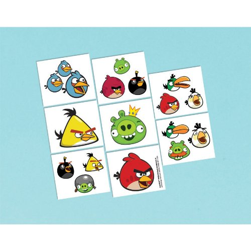 Angry Birds Tattoos 16ct]()