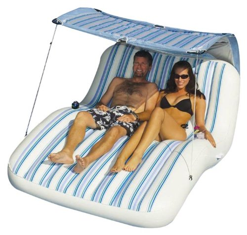 Swimline Luxury Cabana Inflatable Pool Lounger, Outdoor Stuffs