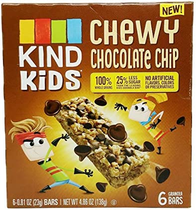 KIND Kids, Chocolate Chip Bar, 0.81 Ounce (6ct Retail Box)