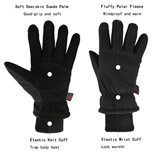 REDESS Women Men Winter Gloves Warm Polar Fleece Touchscreen Gloves Outdoor Windproof Coldproof