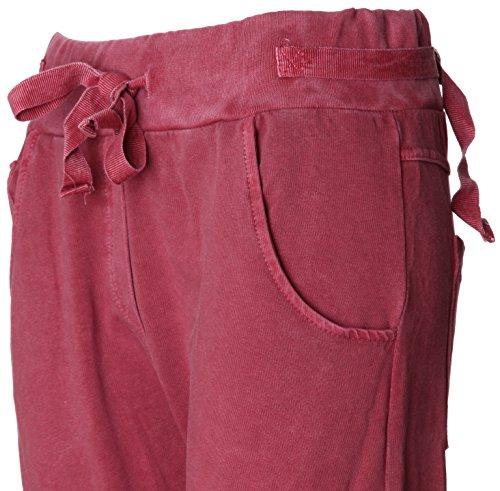 BASIC de joggeurs Femme Bordeaux Survtement Jogging Pantalon de 1qqwPTS6
