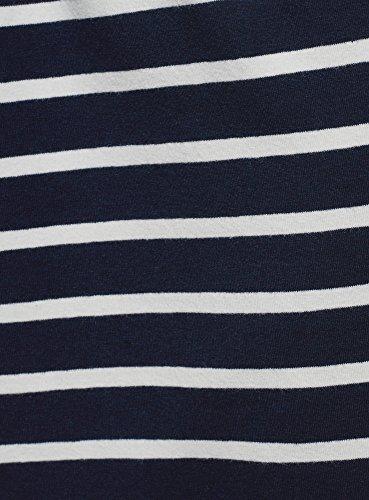 oodji Ultra Femme Jupe en Maille avec Cordon de Serrage Bleu (7912s)