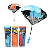 Elisona-Children Babies Kids Outdoor Sports Hand Throwing Mini Parachute Educational Toy Random Color Quantity 1