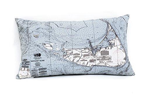 Nantucket Throw Pillow (Nantucket Indoor/Outdoor Nautical Chart Throw Pillow)