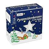 Jeka German Pyramid Candles Large White 17mm CDD050X100XW