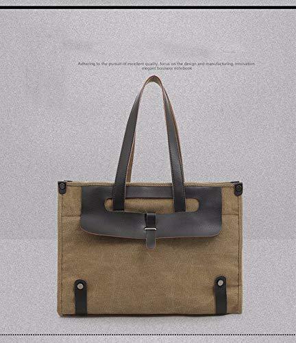 Toile Homme Harajuku color Khaki Khaki De Dos Home Diagonal Pour Main Sac Fortr Classique À Bandoulière D'affaires 6Pq06YTw