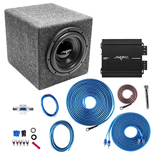 Skar Audio Single 8″ Complete 300 Watt IX Series Subwoofer Bass Package – Includes Loaded Enclosure with Amplifier