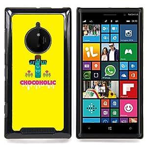 Eason Shop / Premium SLIM PC / Aliminium Casa Carcasa Funda Case Bandera Cover - Chocoholic Dulces de Azúcar Peligro Dieta Saludable - For Nokia Lumia 830