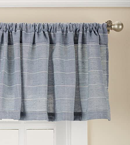 Lorraine Home Fashions Vue Curtain Window Valance 56 inch x 12 inch, Blue