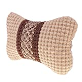 MagiDeal Universal Auto Car Head Neck Rest Soft Cushion Pad Pillow with Belt - Beige