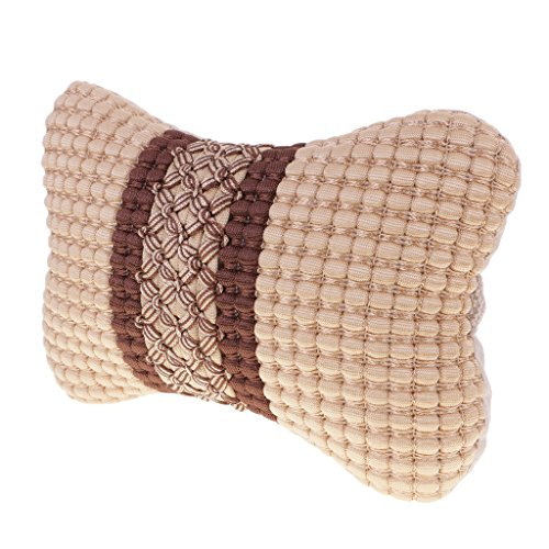 MagiDeal Universal Auto Car Head Neck Rest Soft Cushion Pad Pillow with Belt - Beige by MagiDeal
