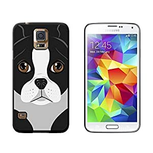 Boston Terrier Dog Pet - Snap On Hard Protective Case for Samsung Galaxy S5 - Black