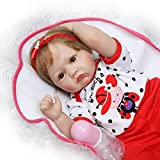 Reborn Baby Dolls Girl Look Real Silicone Dot Outfit Red Pants 22 Inches