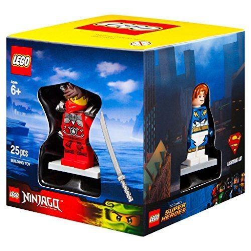 Lego Target Winter 2015 Minifigure Gift Set Promo Cube 5004077 - Lightning Lad + Sir Fangar + Kai Stone Armour + City Scuba Diver by LEGO (Lego Chima Starter Set)