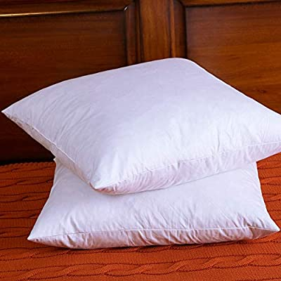 DOWNIGHT Set of 2, Down and Feather Pillow Insert, The Fabric is 100% Cotton, 1818 inch
