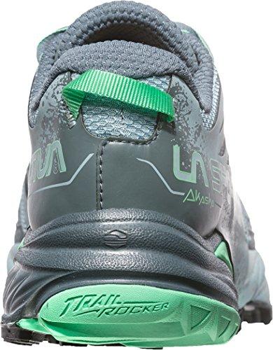 Chaussures De Course De Trail La Mutité Des Femmes Mutables - Ss18 Akasha Femme Pierre Bleu / Vert Jade Talla: 39.5