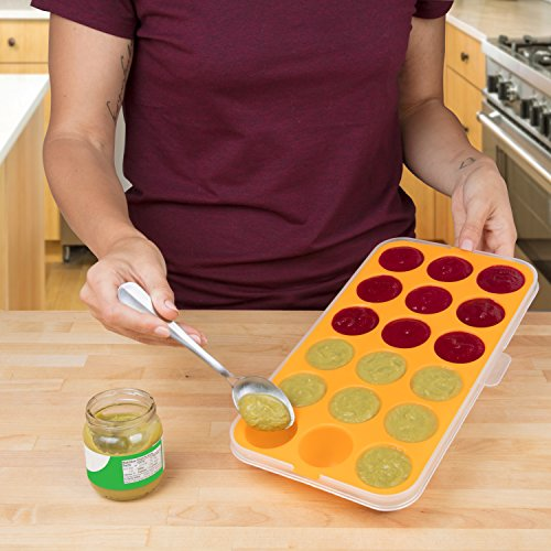 Baby Food Storage Tray - Silicone Pop Out Portion Freezer