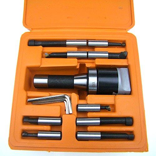 Hfs  R  9Pcs Set 2  Boring Head R8 Shank 1 2  Carbide Boring Bar Set Bridgeport Milling