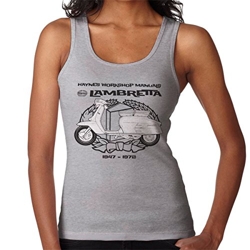 Haynes Owners Workshop Manual Lambretta 3 Women's Vest Heather Grey