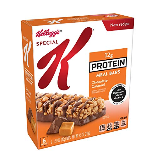Nutritional Bar Chocolate - Special K Protein Meal Bars, Chocolate Caramel, 9.5 oz (6 Count)
