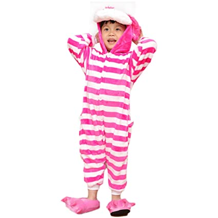 Love Home Niños Adolescentes Pijamas Infantiles Disfraces De Halloween Niños Kigurumi Onese Animal Cosplay Cheshire Cat
