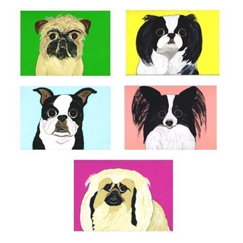 Envelopes Set of 4 Puppy Dog Papillon Stationery Greeting Notecards