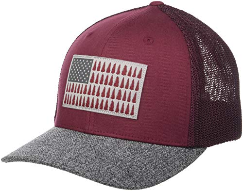 Columbia Men's Standard Mesh Tree Flag Ball Cap, tapestry, Small/Medium