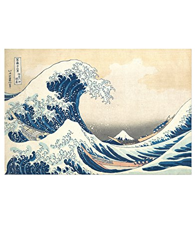 - The Great Wave Off Kanagawa by Katsushika Hokusai Poster Print. 18in Tall X 27in Wide. 10mil PVC-Free, Environmentally Friendly Print. #6113s-18x27