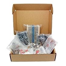 Capacitors, Resistors, LED, Transistors, Diodes, Potentiometers, Electronic Component Kit Assortment, 1298 pcs