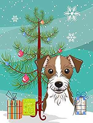 Caroline's Treasures BB1574GF Christmas Tree and Jack Russell Terrier Garden Flag, Small, Multicolor